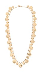 Tory Burch Coin Rosary Necklace Brass