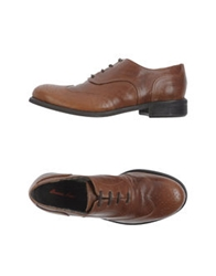 Emma Lou Lace Up Shoes Brown