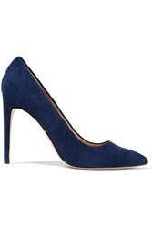 Halston Heritage Shirley Suede Pumps Storm Blue