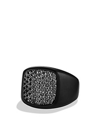 David Yurman Pave Signet Ring With Black Diamonds Tbd
