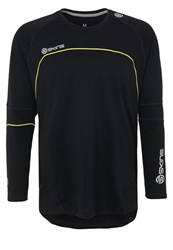 Skins Plus Terra Sports Shirt Black Aluminium