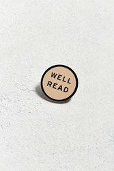 Urban Outfitters Word For Word Well Read Pin Cream