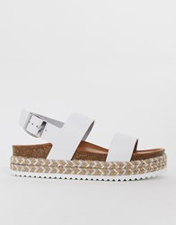 Aldo Ruryan Leather Espadrille Sandals In White White