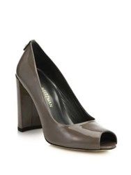 Stuart Weitzman Lille Patent Leather Peep Toe Pumps