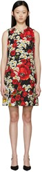 Dolce And Gabbana Multicolored Floral Brocade Dress