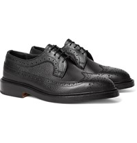 Tricker's Richard Pebble Grain Leather Longwing Brogues Black