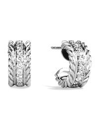 Cable Classics Extra Small Earrings With Diamonds David Yurman