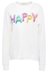 Kate Spade New York Woman Printed French Cotton Terry Sweatshirt Ivory