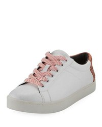 Sam Edelman Collins Lace Up Leather Platform Sneaker White