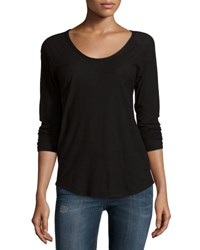 James Perse Long Sleeve Raglan T Shirt Black