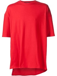 Y Project 'Paneled Kangaroo' T Shirt Red