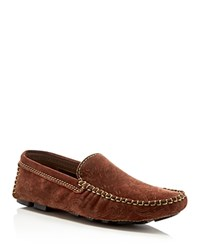 Robert Graham Verrazano Paisley Nubuck Driving Loafers Dark Brown