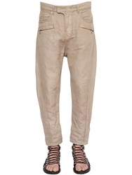 Balmain Twisted Baggy Cotton Denim Jeans
