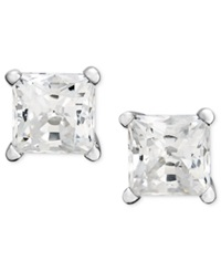 Macy's Diamond Earrings 14K White Gold Princess Cut Diamond Studs 1 1 4 Ct. T.W.