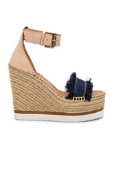 See By Chloe Frayed Wedge Blue