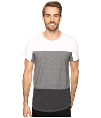 Kenneth Cole Short Sleeve Fabric Block Crew Charcoal Heather Men's T Shirt Gray