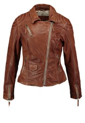 Freaky Nation Blind Trust Leather Jacket Timber Cognac