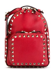 Valentino Garavani Mini 'Rockstud' Backpack Red