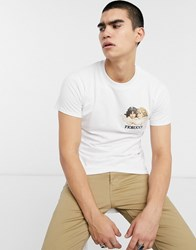 Fiorucci T Shirt In White With Small Angels Logo
