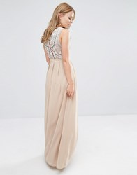 Maya Delicate Maxi Dress With Embellished Back Caramel Brown
