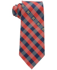 Eagles Wings Florida Panthers Checked Tie
