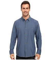 Kuhl Airspeed Long Sleeve Top Pirate Blue Men's Long Sleeve Button Up