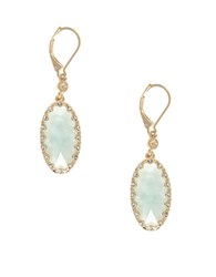 Lonna And Lilly Epoxy Mother Of Pearl Drop Earrings Green