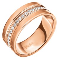 Folli Follie Touch Crystal Ring Rose Gold