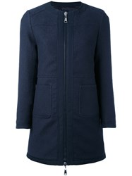 Moncler Freesia Reversible Coat Women Cotton Feather Down Polyamide 1 Blue