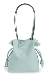 Loewe 'Small Flamenco Knot' Nappa Leather Bag Blue Aqua