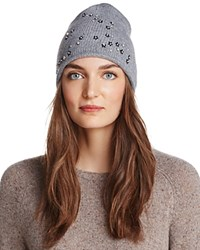 Aqua Floral Knit Hat 100 Exclusive Gray