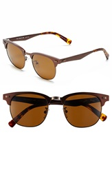 Original Penguin 'The Gimlet' 51Mm Polarized Sunglasses Matte Dark Brown Brown