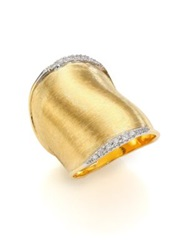 Marco Bicego Lunaria Diamond And 18K Yellow Gold Ring