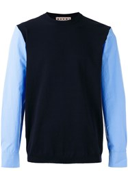 Marni Sweater With Shirt Sleeves Blue