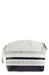 Brahmin 'Mini Duxbury' Embossed Leather Crossbody Bag