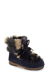 Women's Tecnica Camo Flip Paillette Water Resistant Insulated Moon Boot With Faux Fur Lining 1' Heel