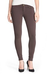 Women's Kut From The Kloth 'Mia' Stretch Knit Five Pocket Skinny Pants Chocolate
