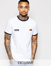 Ellesse L.S Ringer T Shirt Winter White Cream