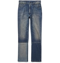 Maison Martin Margiela Slim Fit Panelled Washed Denim Jeans Blue