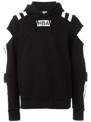 Hood By Air Cut Out Logo Hoodie Black