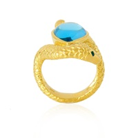 Alexandra Alberta Arizona Blue Topaz Ring Gold Blue