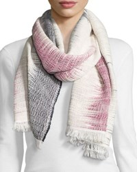 Rag And Bone Woven Cotton Ombre Scarf Navy