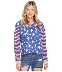 Roxy Twinfinning A Pullover Hoodie Marshmallow The 4Th Stars Women's Clothing Blue