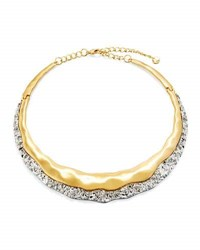 Lydell Nyc Two Tone Molten Choker Necklace Golden Silver