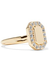 Elizabeth And James Torrens Gold Tone Crystal Pinky Ring 3