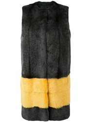 Liska Dolora Coat Women Mink Fur M Black