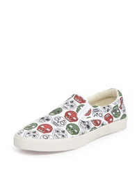 Bucketfeet Cartrinas Canvas Slip On Sneaker White Red Green