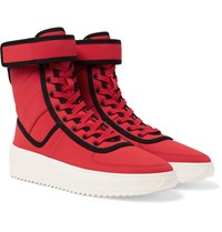 Fear Of God Military Nylon High Top Sneakers Red