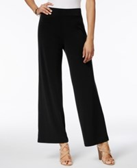 Jm Collection Pull On Wide Leg Pants Only At Macy's Deep Black