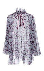 Giamba Tie Neck Floral Dress Pink